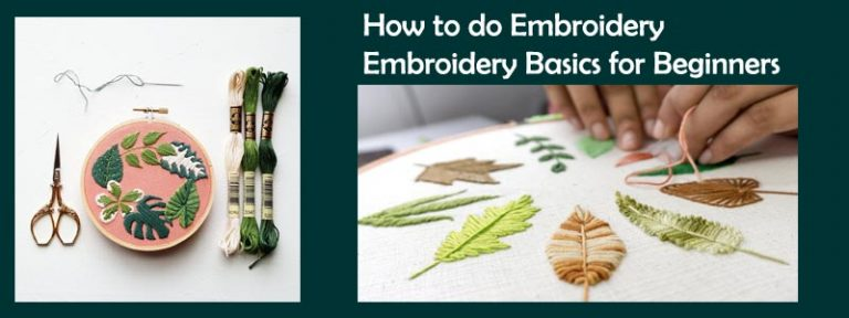 How to do Embroidery   Embroidery Basics for Beginners