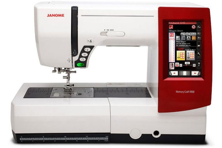 Janome Memory Craft 9900 embroidery and sewing machine